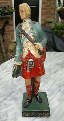 "Early Vintage Bonny Prince Charlie Drambuie Figural Advertising Statue 16"" tall"