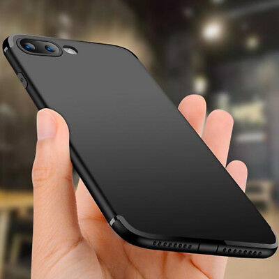 For iPhone 7 8 Plus Silicone Case 3D Matte Shockproof Dustplug Rubber Cover Skin