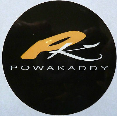 2 x Genuine Powakaddy 70mm 7cm stickers