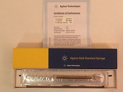 """Agilent Gold Standard Syringe 10ul, PN:9301-0713 """"New Old Stock in package"""""""