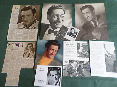 Guy Rolfe  - Film Star - Clippings /cutting Pack