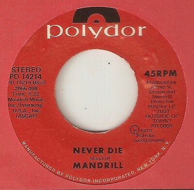 MANDRILL Never Die POLYDOR  NORTHERN SOUL 45
