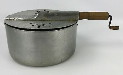 Vintage Concession Supply Co Hand Crank Stove Top Popcorn Maker - Made in USA