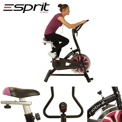 Esprit ES-741 MOTIV-8 Exercise Spin Bike Fitness Cardio Aerobic Machine PURPLE