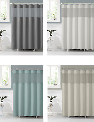 VCNY Celine Fabric Shower Curtain With Attached PEVA Liner