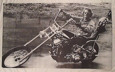 Peter Fonda Large 1967 Personality Poster Motorcycle Chopper Not Easy Rider