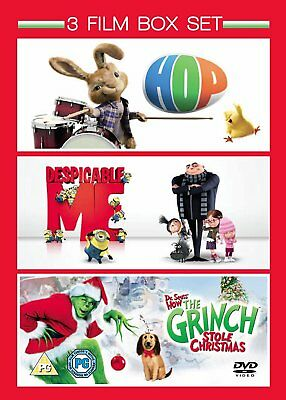Hop / Despicable Me / The Grinch [DVD] [2011] 3 Film Box Set New Sealed