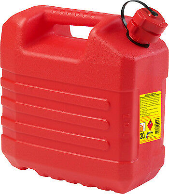 20 Litre Red Plastic Fuel Jerry Can with Spout Petrol Diesel Water Storage Can