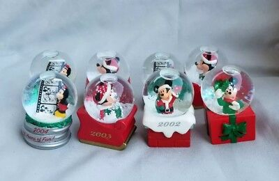 Disney Mickey Mouse Christmas Mini Snow Globe Lot of 8 JC Penney
