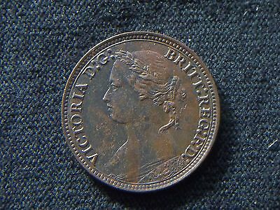 1878 Great Britain Farthing UNC uncirculated  CC6753
