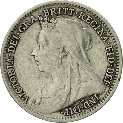 [#424009] Great Britain, Victoria, 3 Pence, 1901, EF(40-45), Silver, KM:777