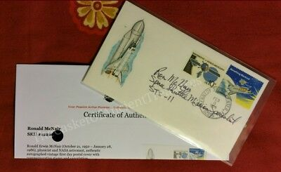 Busta lettera Ron McNair STS-11 - Cover signed shuttle Challenger NASA STS-41-B
