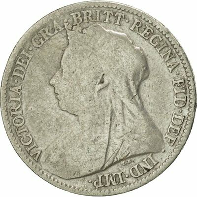 [#424007] Great Britain, Victoria, 6 Pence, 1897, VF(30-35), Silver, KM:779