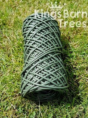 Flexi-Tie Rubber String GREEN 60m Plant Ties Support Strong Soft Garden Twine