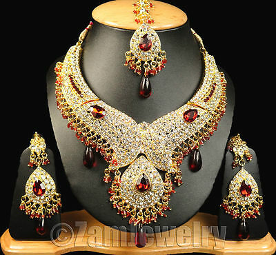 Ethnic Gold Kundan CZ Beads Jewelry Necklace Sets Various Styles FASHION EDH