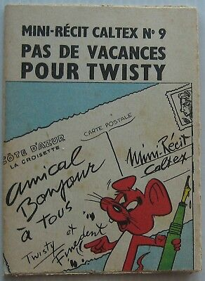 MINI RECIT CALTEX N°9 Pas de Vacances pour Twisty BARBAPAPA contre TWISTY 1962
