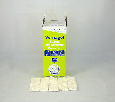 Vernacare Vernagel super Absorbent powder liquid Solidifier 10 Sachets - NHS