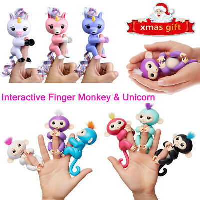 Finger Baby Monkey Electronic Interactive Toy Robot Pet Kids Child Gift W/Hair
