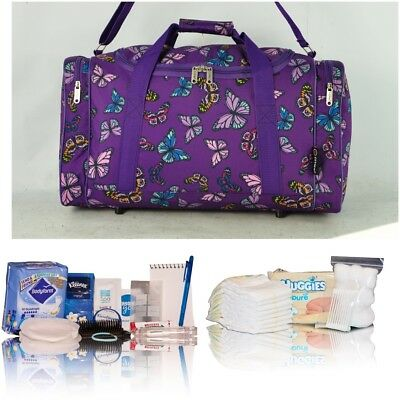 Purple butterfly pre-packed hospital/maternity bag new mum& baby shower newborn