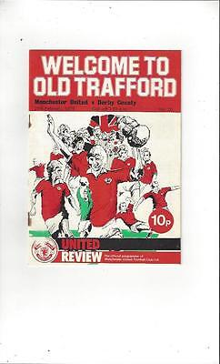 Manchester United v Derby County 1975/76 Football Programme