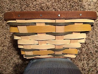 Longaberger Golden Fields Small Flare Basket with Protector