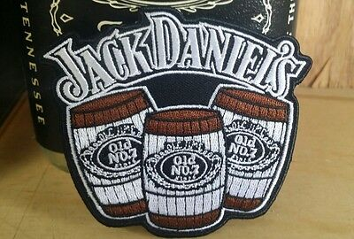↗ LARGE 3 BARRELS   ↖  Jack Daniels ☆☆ SEW-ON OR IRON-ON   ☆☆ New Patch