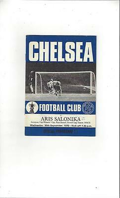 Chelsea v Salonika European Cup Winners Cup 1970/71 Football Programme
