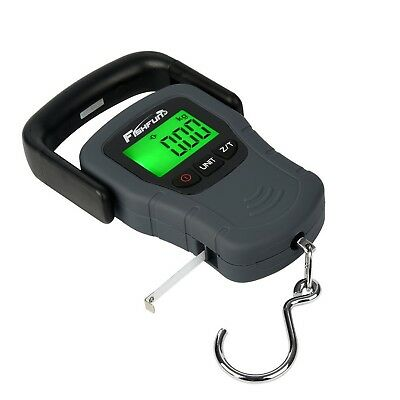 Portable Electronic Balance Digital Fishing Scale Hook Hanging with Tape Meas...