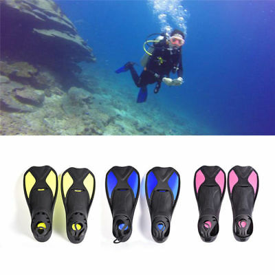 Adult Kids Diving Snorkeling Training Short Fins Swim Flippers Swimmable Tools