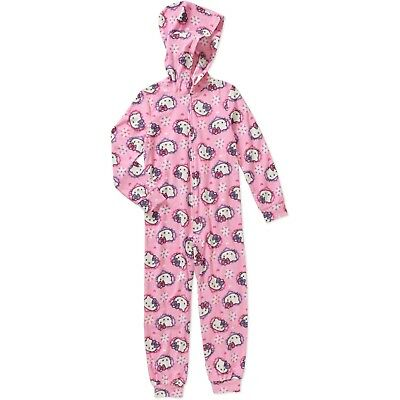 Girls Hello Kitty Fleece Hooded Pajamas Size 6/6X New Sealed W/ Tags