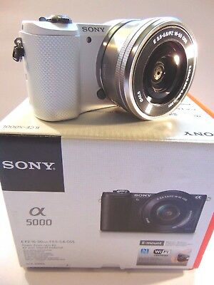 Sony Alpha a5000 20.1MP Digital SLR Camera - White Kit w/ E PZ OSS 16-50mm Lens