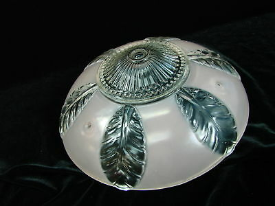 VTG Art Deco Ceiling Light Fixture Glass Shade Chandelier 1930s-40s Pink Clear