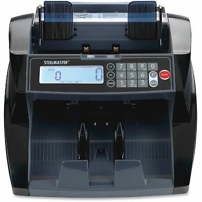 SteelMaster 4820 Bill Counter with Counterfeit Detection 1900 Bills/Min Black