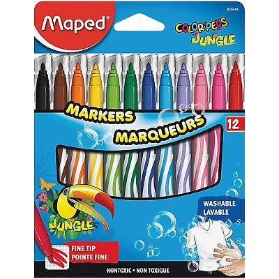 Helix Washable Markers Fine Tip 12/ST Ast 845448