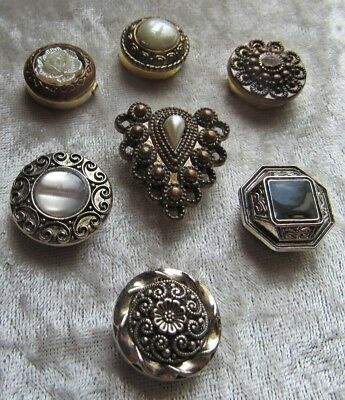 7 Different Mostly Metal Beautiful Button Covers
