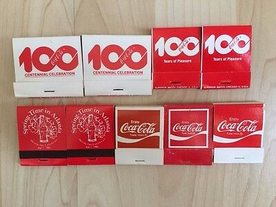 9 Vintage Coca Cola Match Books Never Used !!!