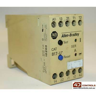 Allen Bradley 817-UD THERMISTOR RELAY 110VAC COIL - Used - Series A