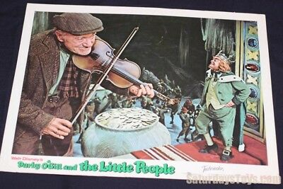 1959 1977 Darby O'Gill & the Little People Lobby Card Albert Sharpe & King Brian