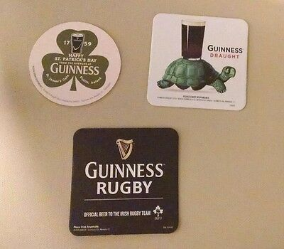 3 New GUINNESS beer coasters