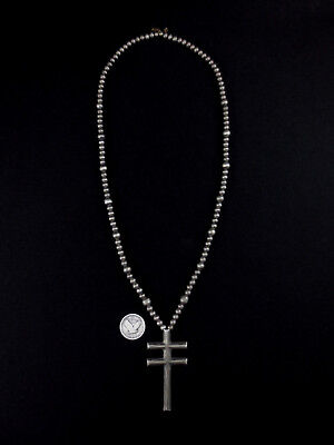 Navajo Cross Necklace - Sterling Silver