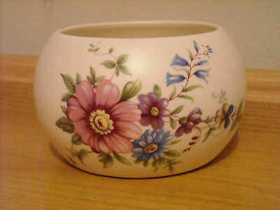 Axe Vale Pottery Floral Decorated Bowl