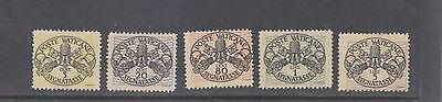 VATICAN-1945-PART SET-POSTAGE DUE-SG SG107-112 (EX111)-M/HINGE-$10-freepost