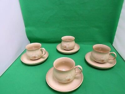 Denby Daybreak 3 x Cups + 4 x saucers + Sugar Bowl
