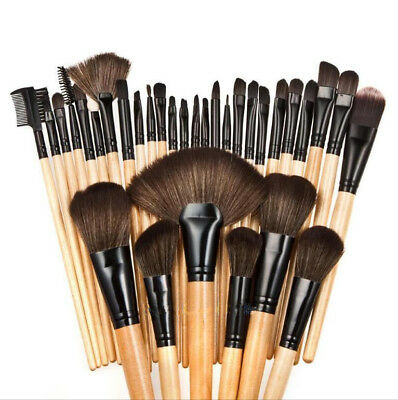 Pro 32 Pcs Makeup Brushes Cosmetic Tool Kit Eyeshadow Powder Brush Set Kit