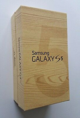 Samsung Galaxy S5 Retail Carton & Quick Start Guide ***BOX ONLY ... NO PHONE!***