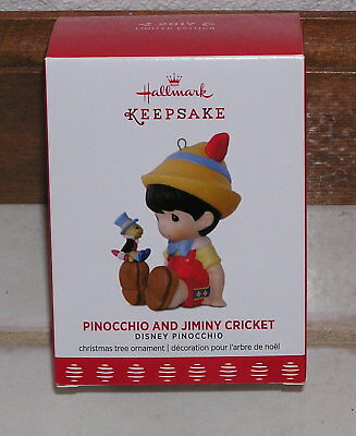 Hallmark 2017 Limited Edition Disney Pinocchio and Jiminy Cricket Ornament