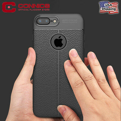 For iPhone 8 Plus 7 Case Luxury Leather Shockproof Protective Slim TPU Cover New