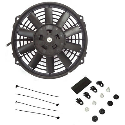 "12"" Universal Electric Radiator Cooling Fans Straight Blade Fitting Kit UK Stock"