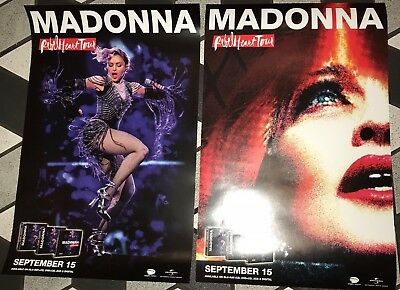 Madonna Rebel Heart Tour Promo Poster Doublesided Rare USA not dvd bluray