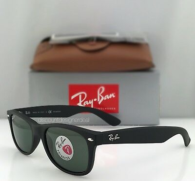 49125882dd RAY-BAN New Wayfarer RB2132 Polarized 622 58 Matte Black   Classic Green  52mm -  139.90